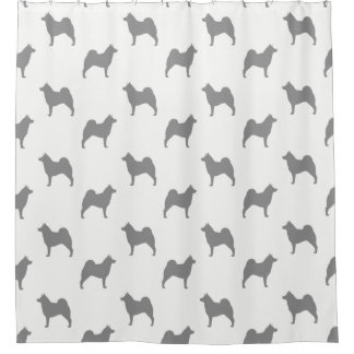 Norwegian Elkhound Silhouettes Pattern Shower Curtain