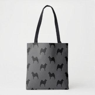 Norwegian Elkhound Silhouettes Pattern Tote Bag