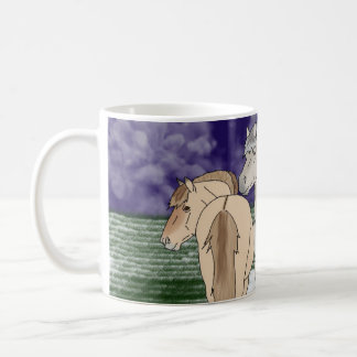 Norwegian Fjord Horses Coffee Mug