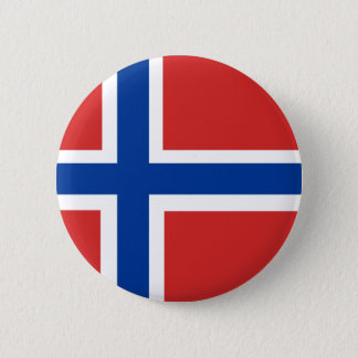 Norwegian Flag 6 Cm Round Badge
