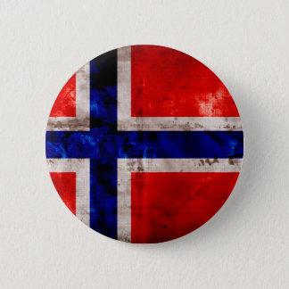 Norwegian Flag 6 Cm Round Badge