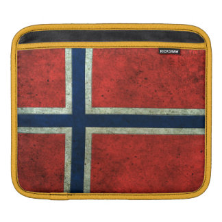 Norwegian Flag Aged Steel Effect Sleeve For iPads