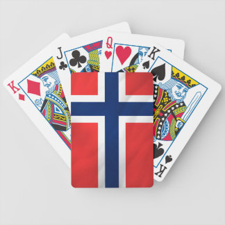 Norwegian Flag Bicycle Playing Cards