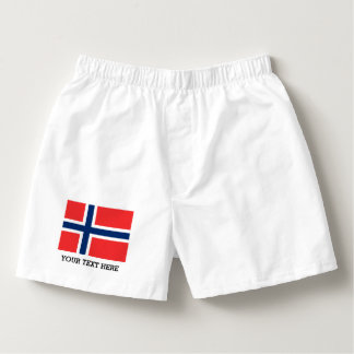Norwegian flag boxer shorts underwear for men boxers