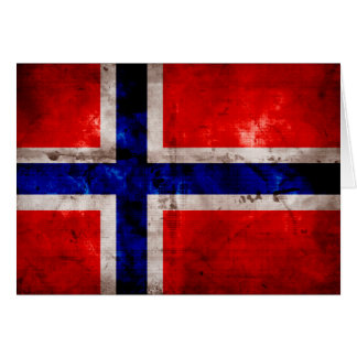 Norwegian Flag Stationery Note Card