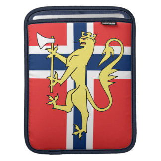 Norwegian Flag Coat of Arms Rickshaw Sleeve Sleeves For iPads