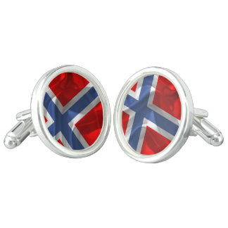 Norwegian flag cuff links