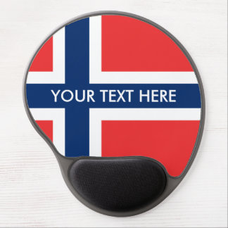Norwegian flag custom gel mouse pad