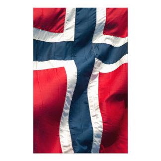 Norwegian flag custom stationery