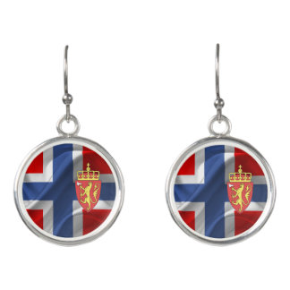 Norwegian flag earrings