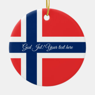 Norwegian flag God Jul Christmas tree ornament