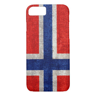 Norwegian Flag Grunge Distressed iPhone 7 Case