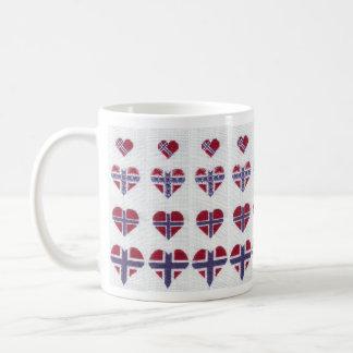 Norwegian Flag Heart Cross Stitch Nordic Norway Mugs