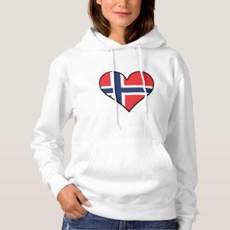Norwegian Flag Heart Hoodie