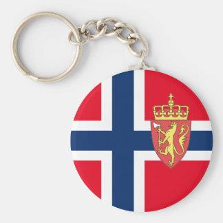Norwegian flag key ring