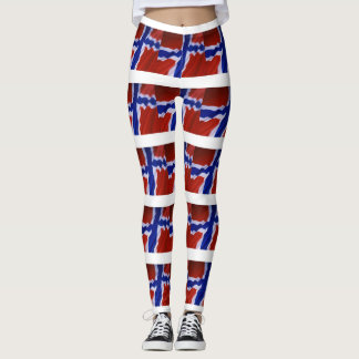 NORWEGIAN FLAG LEGGINGS