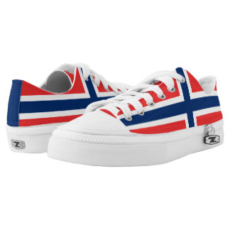 Norwegian flag Low Top Shoes Printed Shoes