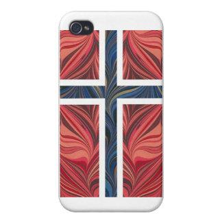 Norwegian Flag Norway Nordic Scandinavian Cross No Cases For iPhone 4