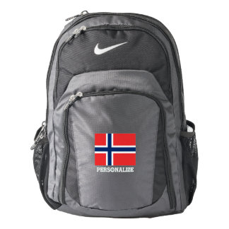 Norwegian flag Norway pride custom Nike backpack