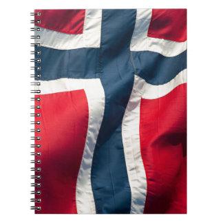 Norwegian flag note book