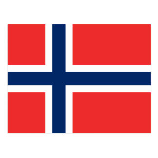 Norwegian flag of Norway custom postcards