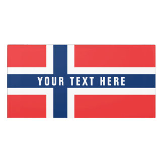 Norwegian flag of Norway Scandinavia pride office Door Sign