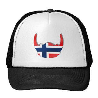 Norwegian flag of Norway viking helmet Cap