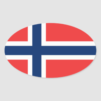 Norwegian flag oval car stickers | Flag of Norway