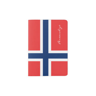 Norwegian flag passport holder | Norway pride