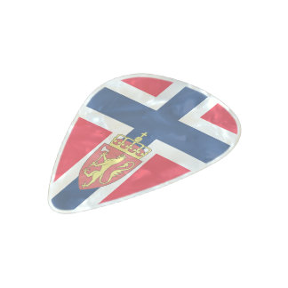 Norwegian flag pearl celluloid guitar pick