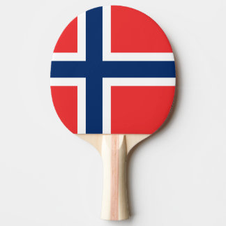 Norwegian flag ping pong paddle for table tennis