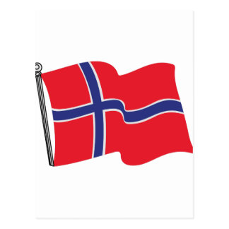 Norwegian Flag Postcard