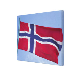Norwegian flag RF) Gallery Wrapped Canvas