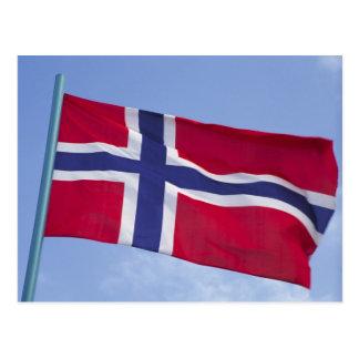 Norwegian flag RF) Postcard