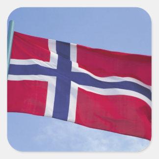 Norwegian flag RF) Square Sticker