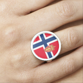 Norwegian flag ring