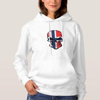 Norwegian Flag Skull Hoodie