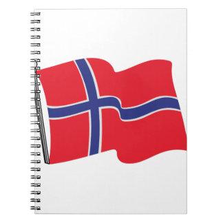 Norwegian Flag Spiral Notebook