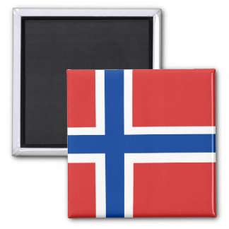 Norwegian Flag Square Magnet