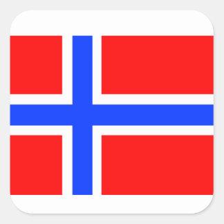 Norwegian Flag Square Sticker