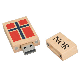 Norwegian flag USB pendrive flash drive | Norway Wood USB 2.0 Flash Drive