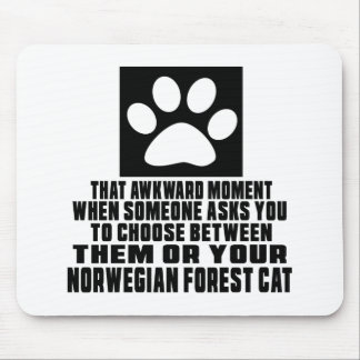 NORWEGIAN FOREST CAT AWKWARD DESIGNS MOUSE PAD