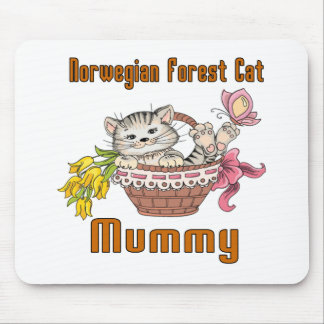 Norwegian Forest Cat Cat Mom Mouse Pad