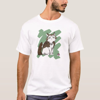 Norwegian Forest Cat scratch T-Shirt