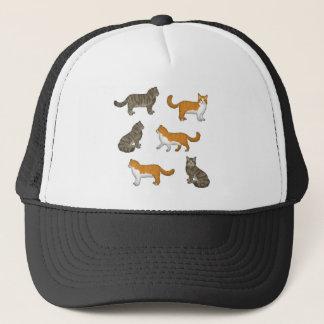 Norwegian forest cat selection trucker hat
