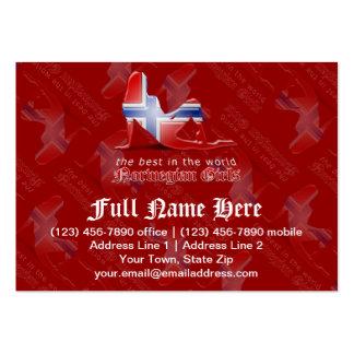 Norwegian Girl Silhouette Flag Business Card Template
