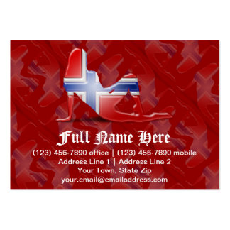 Norwegian Girl Silhouette Flag Business Cards