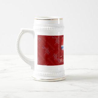 Norwegian Girl Silhouette Flag Coffee Mugs