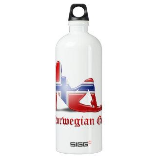 Norwegian Girl Silhouette Flag SIGG Traveller 1.0L Water Bottle
