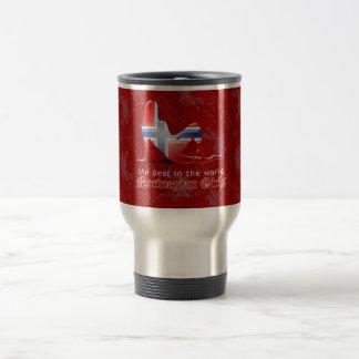 Norwegian Girl Silhouette Flag Stainless Steel Travel Mug